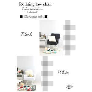 Liloudecoco リルデココ 回転ローチェアー(ポケット付)ホワイト 姫系 キルティング 椅子 一人掛け ソファー 高座椅子