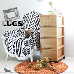 LUGS ラグス木目調4段 ナチュラル チェスト 衣装ケース プラスチック BOX 収納ケース 木目 ウッドの画像