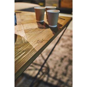 センターテーブル/ローテーブル 【幅120cm】 木製 アイアン 『ヒストリア』 〔リビング 店舗〕