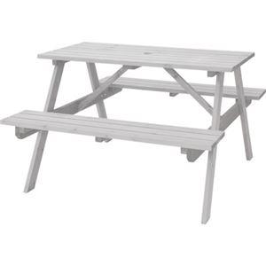 テーブル&ベンチW120ホワイト【幅:120cm】天然木ODS-92WH