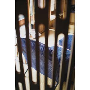 ローソファー/フロアソファー 【1人掛け ネイビー】 幅68cm 脚付き スチール リクライニング式 〔リビング ダイニング〕