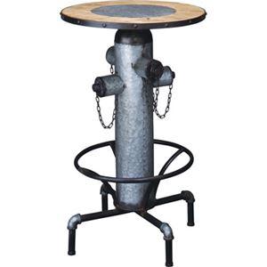 昇降式 カウンターテーブル/サイドテーブル 【幅62cm】 スチール 木製 〔リビング ダイニング 店舗 オフィス〕