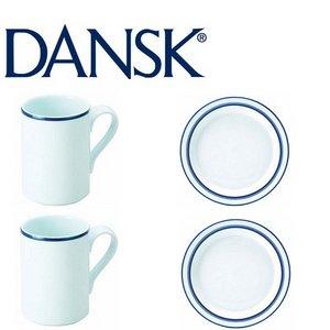 DANSK(ダンスク)ビストロモーニング4点セット ★マグ&プレート - 拡大画像
