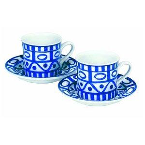 DANSK(ダンスク) アラベスクコーヒーブレイク6点セット ★カップ&ソーサー&コーヒースプーン - 拡大画像