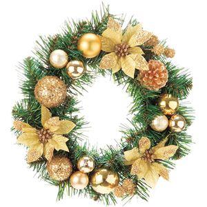 【クリスマス】30CM ポインセチアリース GO CBD-051 - 拡大画像