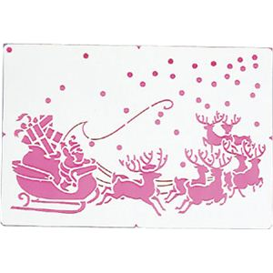 【クリスマス】カタガミ サンタガマチヘ CKC-44 - 拡大画像