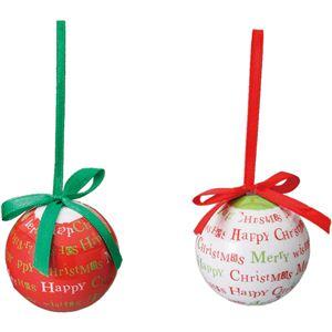 【クリスマス】50mmMCプリントボール12Pセット COC-190 - 拡大画像