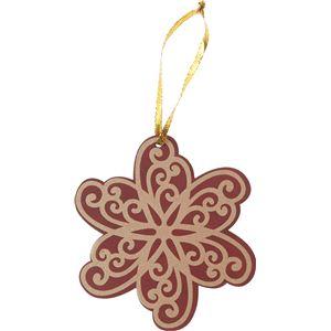 【クリスマス】リッチフラワーオーナメント WI COH-559 - 拡大画像