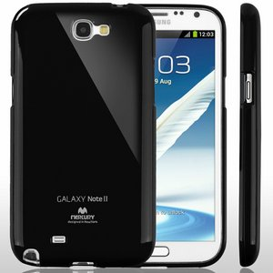 【全11色】Color jelly case for Galaxy Note2(SC-02E)(ブラック)