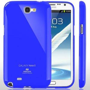 【全11色】Color jelly case for Galaxy Note2(SC-02E)(ブルー)