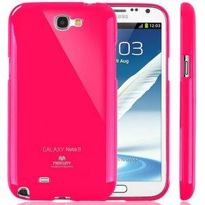 【全11色】Color jelly case for Galaxy Note2(SC-02E)(ホットピンク)