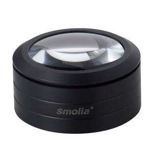 LED拡大鏡スモリア使い勝手抜群置くだけで明るく拡大!