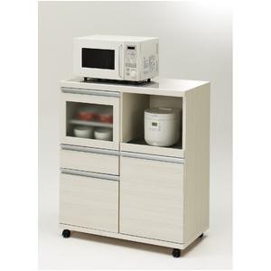 おしゃれでシンプルなキッチンボード フナモコ 食器棚 ハイタイプ キッチンカウンター (カラー:ホワイトウッド/リアルウォールナット)