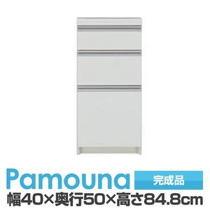 パモウナ 食器棚 IK カウンター 【幅40×奥行50×高さ84.8cm】 パールホワイト IK-400K【下台のみ】 【完成品】 日本製 - 拡大画像