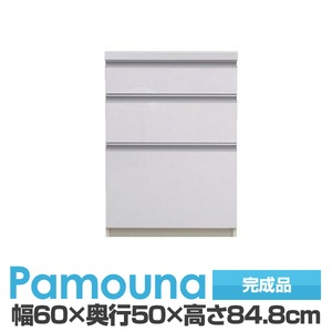 パモウナ 食器棚 IK カウンター 【幅60×奥行50×高さ84.8cm】 パールホワイト IK-600K【下台のみ】 【完成品】 日本製 - 拡大画像