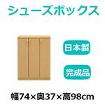 共和産業 マカロン シューズボックス 74Lシューズ ライト【幅74×高さ98cm】 日本製 国産