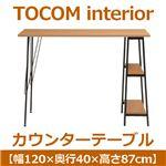 あずま工芸 TOCOM interior(トコムインテリア) カウンターテーブル 幅120cm ナチュラル TCT-1246
