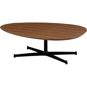 SWITCH(スウィッチ) エッグ リビングテーブル 【ウォールナット】 幅110cm (ブラウン色)【2個口】
