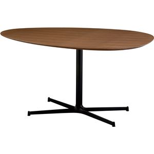 SWITCH(スウィッチ) エッグ ダイニングテーブル 【ウォールナット】 幅140cm (ブラウン色