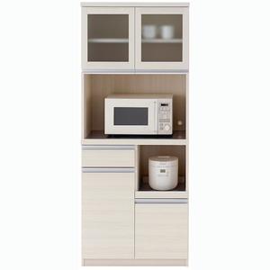 ジャンクインテリア 通販の部屋作りに フナモコ 食器棚 【幅73.2×高さ180cm】 ホワイトウッド DKS-73G