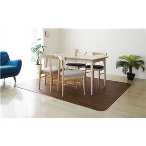 アキレス クッションフロアラグマット(床暖房対応) チョコレートブラウン 182×270cm