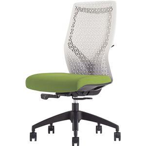 オカムラ オフィスチェア ビラージュ オフィスチェア 肘なし グリーン 8VCM2A-FHR5 - 拡大画像