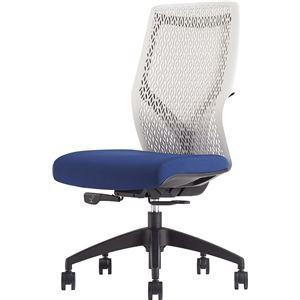 オカムラ オフィスチェア ビラージュ オフィスチェア 肘なし ブルー 8VCM2A-FHR6 - 拡大画像