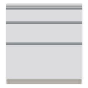 パモウナ 食器棚VI 【幅80×奥行50×高さ84.8cm】 VI-800K 【下台のみ】 パールホワイト - 拡大画像