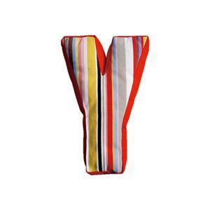 SWITCH(スウィッチ) アルファベットクッション Y 【マルチストライプ布地】 幅43cm 日本製