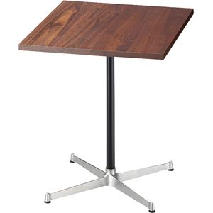 SWITCH(スウィッチ) カフェ テーブル Walnut 【アルミ脚 無垢材】 幅60cm ウォールナット 日本製