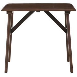 ミキモク ダイニングテーブル パフューム ウェンジ 80x75cm WT-80731 SPA ウェンジ - 拡大画像