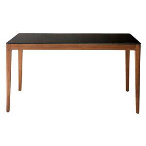あずま工芸 ダイニングテーブル 幅135cmガラス天板 ダークブラウン【2梱包】 GDT-7670 - 拡大画像