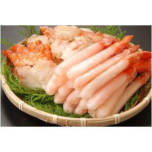 北海道産お刺身用紅ズワイガニ脚剥き身500g&肩肉500g合計1キロ