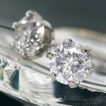【ダイヤモンドローズジュエリーボックス付き】PT0.85ctアップダイヤモンドピアス(鑑別書付き) プラチナ
