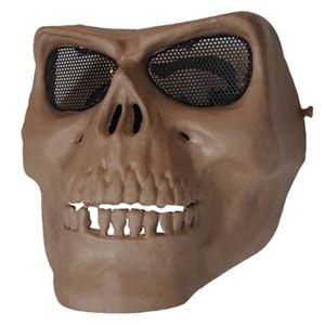 フェイスマスク スカルフェイスガード鬼の顔 サンドベージュ K-180 - 拡大画像