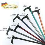 OSシリーズドイツオッセンベルグ社製リハビリステッキ/リハビリ用杖伸縮杖 OS-15 レザーブラック