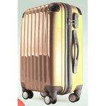 24インチ ポリカーボネートスーツケース ゴールド CPL-8011-24GD