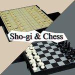 折りたたみ式 2in1マグネットチェス&将棋セット K-074