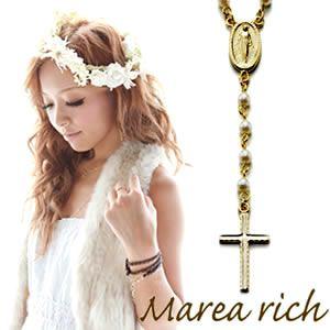 Marea rich(マレアリッチ) 2way ロザリオ ペンダント ゴールド×イミテーションパール 10KA-01 - 拡大画像