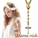 Marea rich(マレアリッチ) 2way ロザリオ ペンダント ゴールド×イミテーションパール 10KA-01