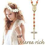 Marea rich(マレアリッチ) 2way ロザリオ ペンダント ゴールド×染色サンゴ 10KA-02