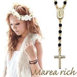 Marea rich(マレアリッチ) 2way ロザリオ ペンダント ゴールド×オニキス 10KA-03 - 拡大画像