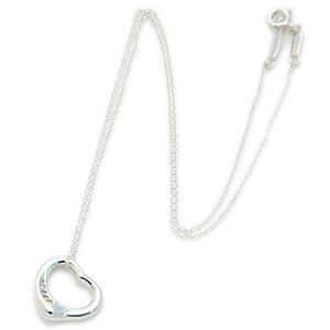 Tiffany(ティファニー) オープン ハート ペンダント スモール 5Pダイヤモンド 16in26848598 - 拡大画像