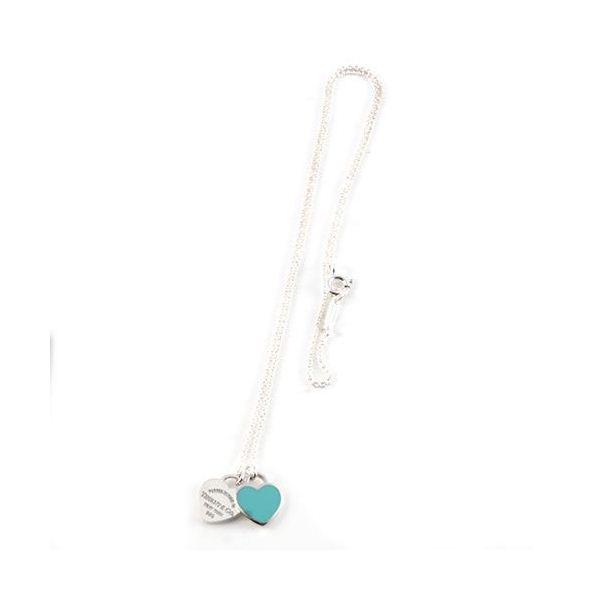 Tiffany(ティファニー) RTT ダブルハート タグ ペンダント ティファニー ブルー 16in 27125107f00