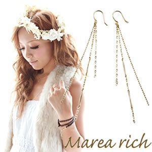 Marea rich(マレアリッチ) Chain Pierce K10 チェーンピアス ゴールド 10KJ-31 - 拡大画像