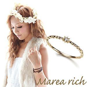 Marea rich(マレアリッチ) K10 シンプルダイヤリング ゴールド×ダイヤモンド 10号 10KJ-09 - 拡大画像