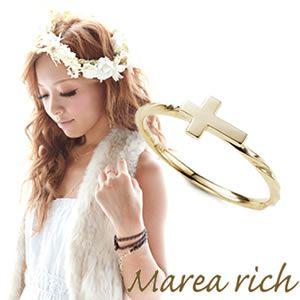Marea rich(マレアリッチ) K10 クロスモチーフリング ゴールド 10号 10KJ-02 - 拡大画像