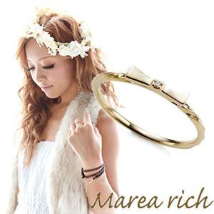 Marea rich(マレアリッチ) K10 リボンモチーフリング ゴールド×ダイヤモンド 10号 10KJ-06 - 拡大画像