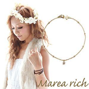 Marea rich(マレアリッチ) K10 シンプルダイヤブレスレット ゴールド×ダイヤモンド 10KJ-11 - 拡大画像