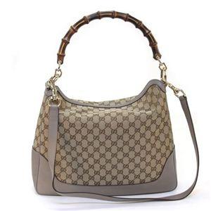 Gucci(グッチ) DIANA バンブーディテール ファブリック バンブーハンドル ショルダーバッグ ベージュ/グレー 282315 FWCGG 8657 - 拡大画像